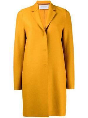 Harris Wharf London Golden Yellow Overcoat Coat Size 42