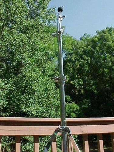 vintage SONOR DRUMS single braced cymbal floor stand - rubber ball feet - #2