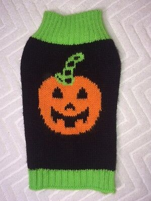 Simply Dog Black Striped Stem Pumpkin Sweater DOG COSTUME * XXS * VGC (Simply Stems)