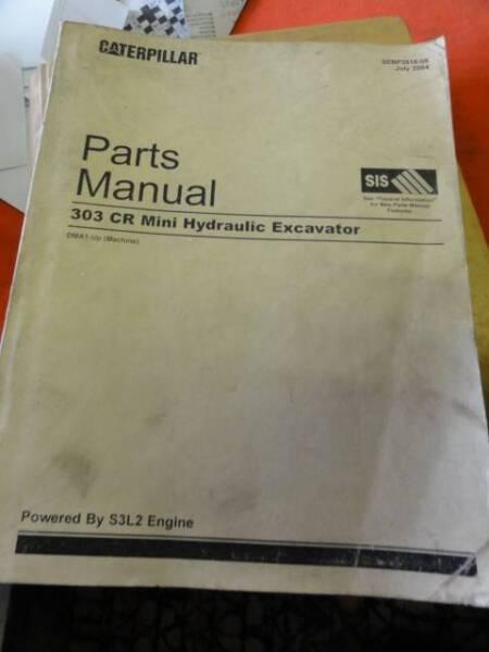 CATERPILLAR 303 CR MINI EXCAVATOR WORKSHOP MANUAL ARTS BOOK