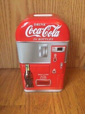 - NEW Coca Cola Vending Machine Piggy Coke Bank Coin Money Tin Metal Toy Safe Box
