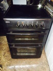 £114.99 Beko black ceramic electric cooker+60cm+3 months warranty for £114.99
