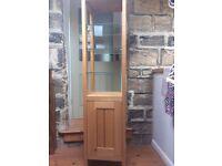 Pale Oak freestanding bathroom cabinet
