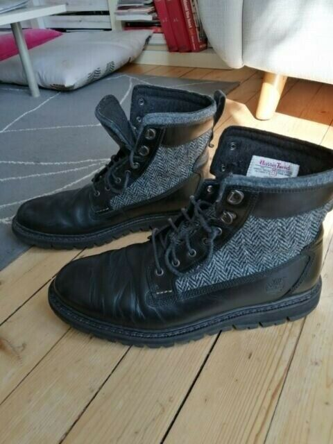 Timberland Tweed Size 9 boots, Britton Hill Black Leather sz 9 Harris | in Holyrood, Edinburgh | Gumtree