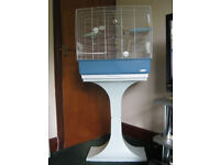 REKORD 4 WHITE BIRD CAGE WITH STAND F71