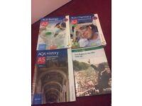 AQA A-level chemistry history biology textbooks