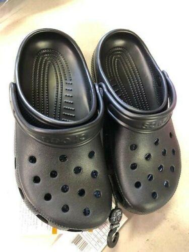 Crocs Kids Classic Clog Slip on Boys & Girls | Water Shoes size J3 Black