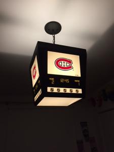 Luminaire Tableau indicateur chambre enfant, amateur de hockey d