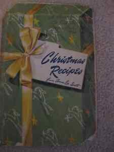 CHRISTMAS RECIPES from ANNA LEE SCOTT ... 1931 - 1942!!!