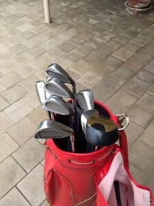 Golf Set with Red Bag. Attadale Melville Area Preview