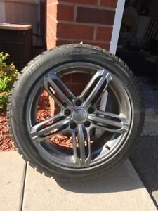 Set of 4 winter tires with rims - 215/50R/17