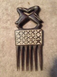 Handmade Malaysian Blackwood blow out comb from The Ivory Coast
