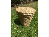 Small Wicker Laundry Basket (New)