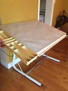 Adjustable Drafting Table w/ Board Cover, Instrument Tray, Caddy
