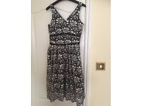Black And White Marks and Spencer Occasion Dress, 10