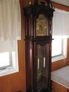 Deep red/brown Grandfather clock