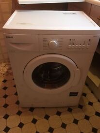 Beko washing machine for sale, white, complete with hoses