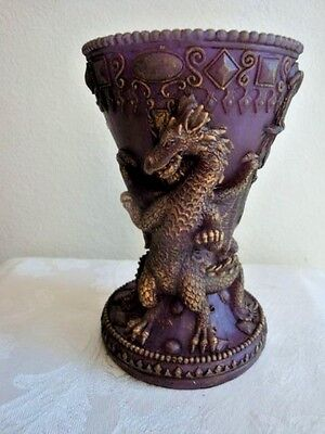 Lot of 12 Fantasy Mythical  Sculptured Dragons Chalice Wax Plum Purple Candle