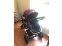 Double stroller pushchair pram buggy babyjogger with carrycots and all accesories included