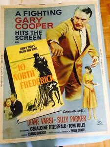 Vintage 1950's Movie Poster -Gary Cooper -10 north Frederick