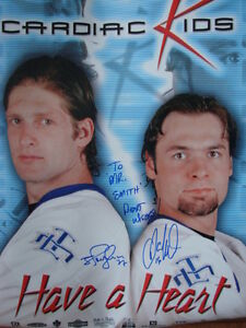 Maple Leafs Darcy Tucker  Shayne Corson signed poster