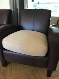 2 beautiful leather chairs @£150 each
