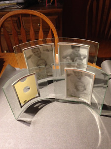 set of glass picture frames