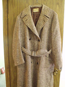 'Genuine Cumberland' Harris Tweed Double-breasted Men's Overcoat