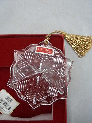 2014 Annual Marquis Waterford Crystal Snowflake Christmas Ornament 165041 NIB