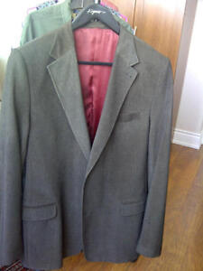 Fine corduroy sports jacket, size 42 LONG - brown