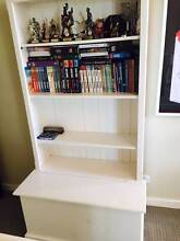 Solid Timber Off White Excellent Quality 4 Shelves with Storage Cremorne North Sydney Area Preview