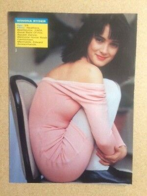 WINONA RYDER Original Vintage Number One Magazine A4 Poster