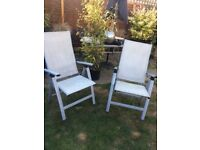 Pair of folding Garden chairs with arms