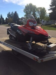 2007 Polaris 600 IQ -$5500, Sled Bed Aluminum Trailer -$1500