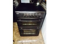 £107.00 Beko Black ceramic electric cooker+60cm+3 months warranty for £107.00