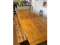 Huge, Solid, Extendable Oak Kitchen Table