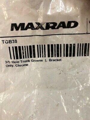 New Maxrad Tgb38 38 Hole Trunk Groove L-bracket Antenna Mount Chrome