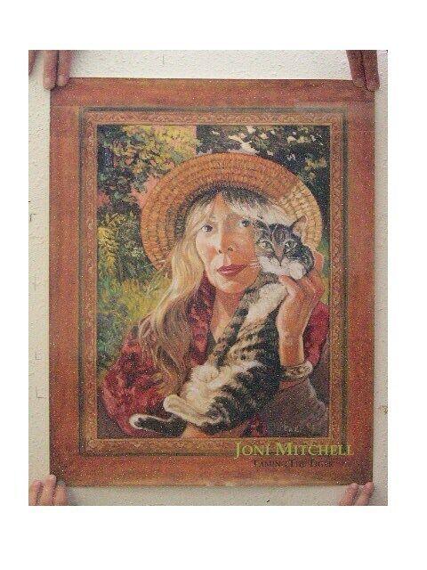 Joni Mitchell Poster Holding Cat Promo