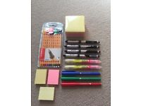 Stationery: Sticky Notes, Stabilo Pens and Pilot Pens. New. Collect Fulham