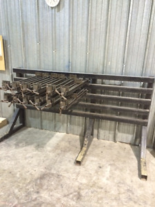 """12 TAYLOR 32"""" CLAMPS WITH 8' CLAMP RACK"""