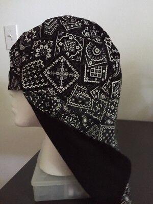Welding Caps With Ear Flapsreversible Black Bandana