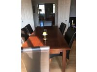 Beautiful DIning Room Table + 8 Leather Dining Chairs.