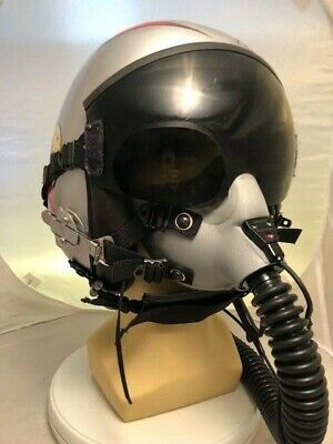 """PiLot Flight Helmet and  GENTEX MBU-12 OXYGEN MASK """"TOP GUN"""" SLIDER"""