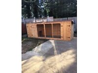 Brand New Dog Run / Kennel - Sleeping Area, Bolted Door Each End with Wire Mesh Between