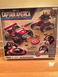 CAPTAIN AMERICA MEGA BLOKS RED SKULL SHOWDOWN  # 91217