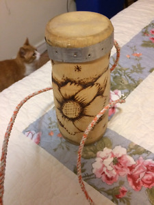 Small Cuban Drum with Neck Strap