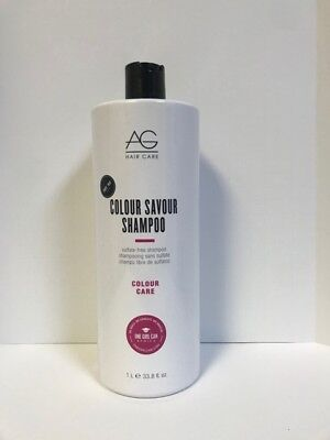 AG Hair Colour Savour Shampoo - 33.8oz LITER  for sale  Shipping to India