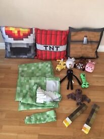 Minecraft curtains, cushions, wall lights and plush characters