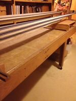 Long arm quilting machine and frame