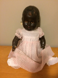 Vintage black 1940 Reliable Topsy doll